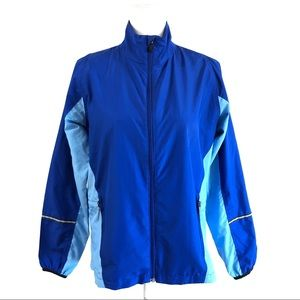 New Balance Women's L blue running jacket wind